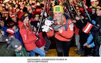 Katharina Liensberger Empfang in Göfis